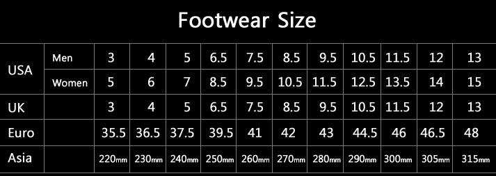 Converse Shoe Size Chart Shoes For Men Online